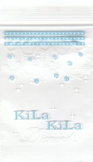 3x Japan Kila Kila Diamond Plastic Gift Bags w/ Zipper KAWAII