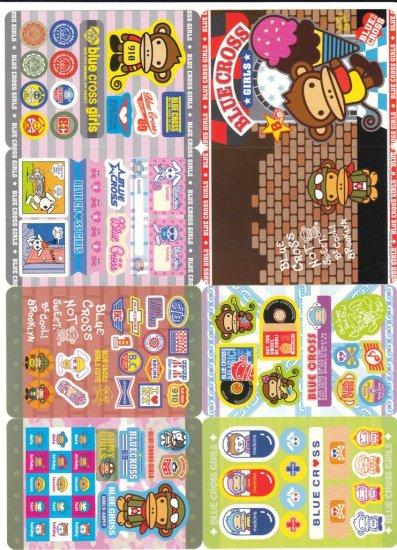 Japan Blue Cross Monkey Jumbosealdass Sticker KAWAII