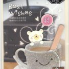 Taiwan Bear w/ Coffee Notecard KAWAII