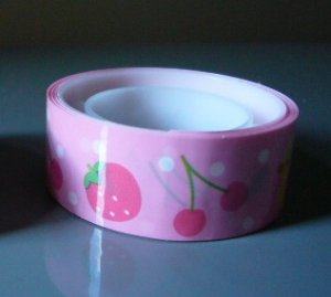 Japan Strawberry Cherry Duckie Deco Tape KAWAII