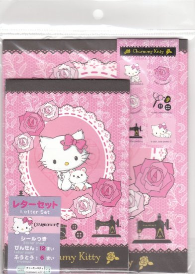 JAPAN Sanrio Charmmy Kitten w/ Rose Lettersets Pack + Sticker KAWAII