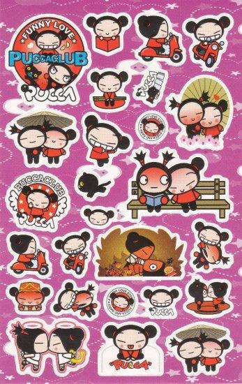 Korea Pucca Love Big Sticker Sheet KAWAII (Purple)