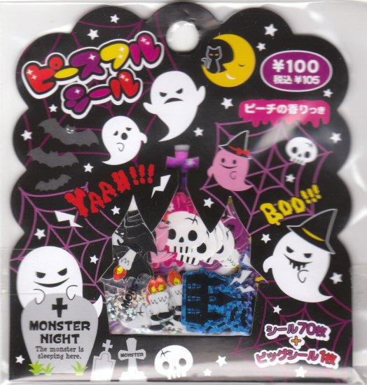 Japan Mind Wave Monster Night Sack Stickers KAWAII