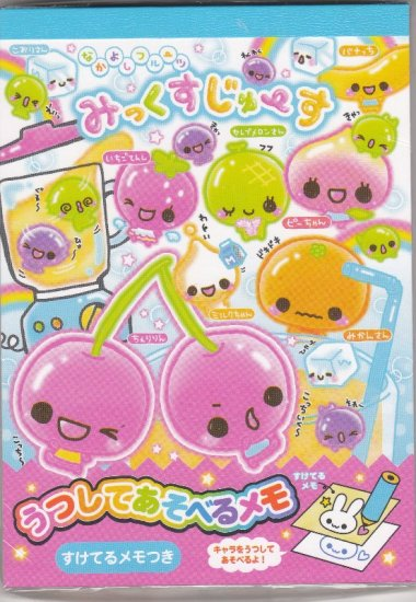 JAPAN Cru-x Fruit Ball San Notepad (large memo pad) Kawaii