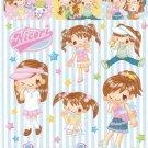 Japan Q-Lia Nicori Happy Girl Fashion Sticker KAWAII (F)