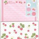 JAPAN Sweet Strawberry Lettersets Pack + Sticker KAWAII