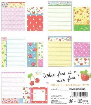 JAPAN Kamio Rose & Strawberry Lettersets KAWAII
