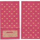 2x Japan Hearts Red Paper Gift Bags KAWAII