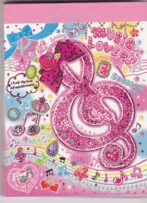 Japan Pool Cool Music Lover Memopad KAWAII