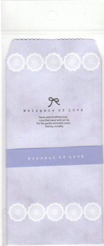 Korea Whispers of Love Ribbon Envelopes Pack KAWAII (Purple)