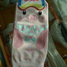 Korea Pig wear scarf Socks w/ foot Kawaii