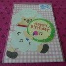 Taiwan Sheep w/ Drum Pull Birthday Card KAWAII