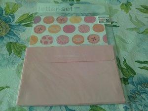 Korea Pink Buttons Polka Dots Lettersets KAWAII