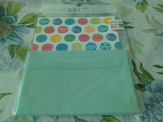 Korea Light Blue Polka Dots Lettersets KAWAII