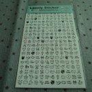 Korea Panda Schedule Sticker (2 sheets set) KAWAII (A)