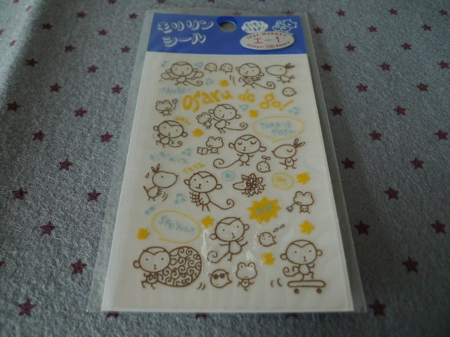 Japan San-x Monkey Osaru Transfer Sticker KAWAII