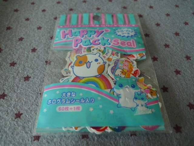 Japan Hamster Happy Pack Sack Stickers KAWAII