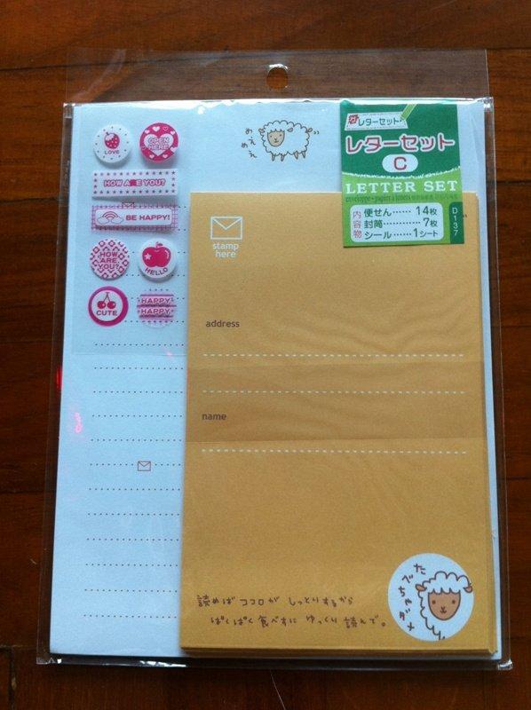 JAPAN Sheep Meme Lettersets Pack + Sticker KAWAII