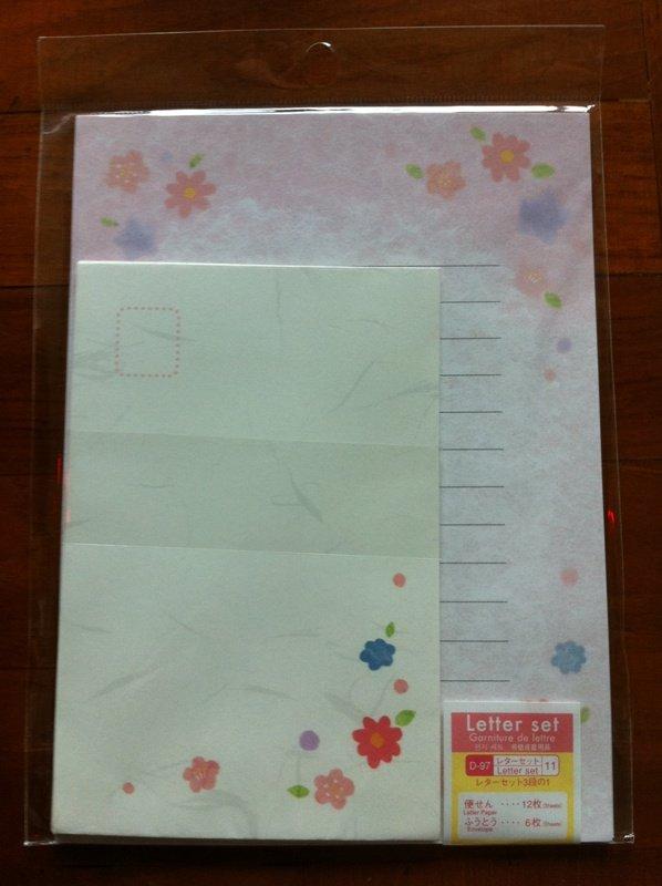 JAPAN Traditional Flowers Lettersets Pack KAWAII