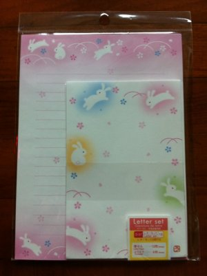 JAPAN Traditional Rabbit Lettersets Pack KAWAII