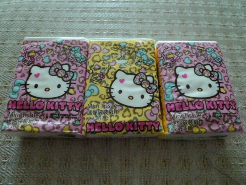 3x Japan Sanrio Hello Kitty Animal Tissue Packs KAWAII
