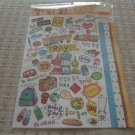 Korea Happy Travel Glittery Sticker KAWAII