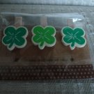 Lucky Clover 3 Wooden Clips