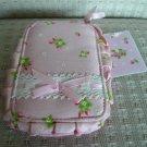 Japan Flower Pink Cosmetic Bag KAWAII