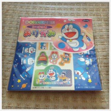 JAPAN Doraemon Origami Pad (Folding Paper) + Stickers Kawaii