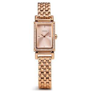 Gen Auth COACH Women's Madison Rose Goldtone Bracelet Watch 30mm Retail $278