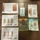 Assorted 7 pc. Popular Makeup Foundation/Primer Sample Cards NEW