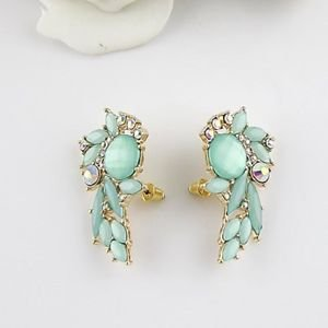 Pair of Chic Light Color Faux Gemstone Earrings For Women