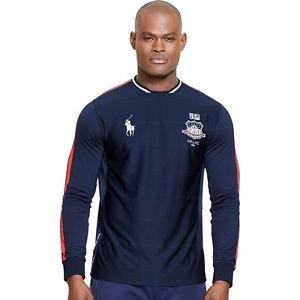 NWT Ralph Lauren Polo Sport USA Drop Needle Jersey Tee French Navy XL Orig. $135