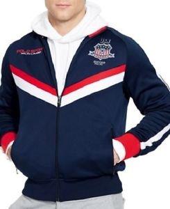 NWT Ralph Lauren Polo Sport USA Tech Fleece Track Jacket Color Navy Orig. $185
