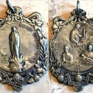 Signed Large Antique Signed Holy Medal Virgin Mary Immaculate Saint Aloisious Joannes Stanislaus