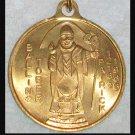 Large Vintage 1960's St. Patrick Medal Men's Catholic Jewelry Man's Medallion Pendant