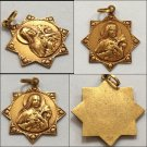 Rare French Antique 10k Gold Saint Therese Medal Vintage St. Theresa Catholic Charm Pendant