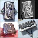 Large Sterling Silver Ring St. Jude Patran Saint of Hopeless Cases and Those in Despair Size 10
