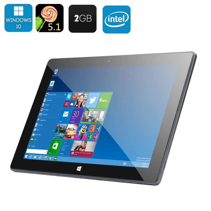 10.1 Inch Dual System Tablet PC - Windows 10, Android