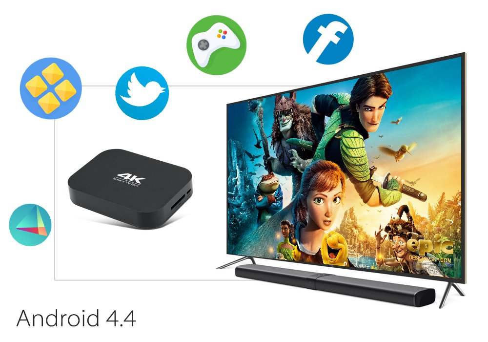 A400 H3 4K Quad Core TV Box