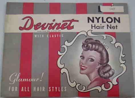Vintage Devinet Nylon Hair Net Grey Gray 1940's or 1950's ?