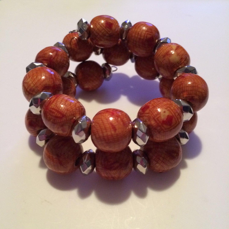 Chunky Bead Wrap Bracelet