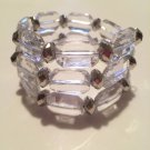 Crystal & Silver Wrap Bracelet