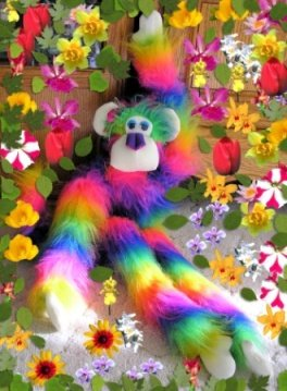 Rainbow Comfee Monkee