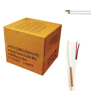 Five star RG59 Siamese CCTV Combo Coaxial Cable 500 ft