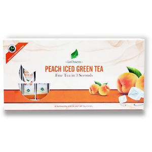 Peach Green Tea 20 Sachets, All Natural Ingredients