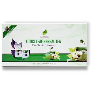 Lotus Leaf Herbal Tea Powder 20 Sachets Helps to Lower Blood Pressure