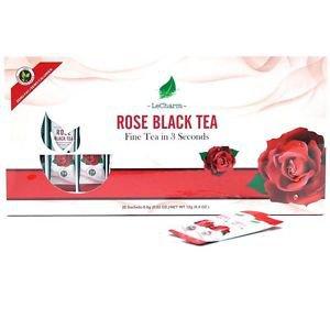Rose Black Tea 20 Sachets Box Set Antioxidant Anti-aging