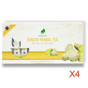 Ginger Herbal Tea Powder 20 Sachets Tea Great For Winter Tea Holiday Gift 4pk