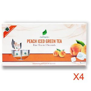 Peach Green Tea 20 Sachets, Quantity of 4 Great for Gifts set